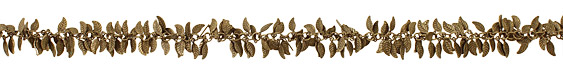 Antique Brass (plated) Falling Leaves Chain