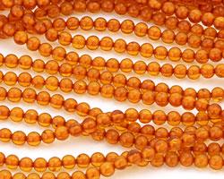 Resin Amber Round 4mm