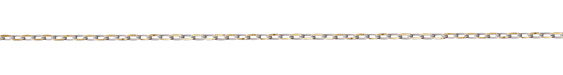 Neo White Oval Cut Cable Chain 5x3mm