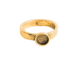 Nunn Design Antique Gold (plated) Hammered Itsy Circle Ring Size 8