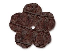 "TierraCast Cognac Hornback Leather 1.25"" Flower 32mm"