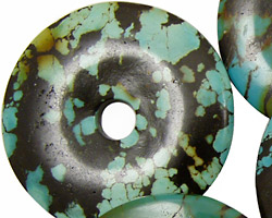 Chinese Turquoise Donut 35-40mm