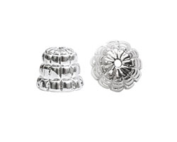 Nunn Design Sterling Silver (plated) Sea Hive Bead Cap 10x12mm