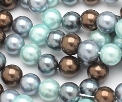 Muddy Spring Mix Shell Pearl Round 10mm