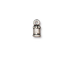 TierraCast Antique Silver (plated) Palace 2mm Cord End 11x5mm