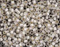 TOHO Permanent Frosted Crystal (with Silver Lining) Round 8/0 Seed Bead