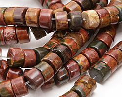 Red Creek Jasper Heishi 5-6x10mm
