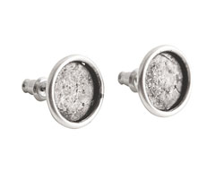 Nunn Design Antique Silver (plated) Small Circle Post Earring 13mm