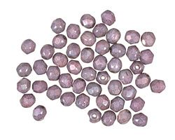 Czech Fire Polished Glass Matte Luster Opaque Amethyst Round 4mm