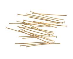 """Vintaj Vogue Brass Headpins 1.5"""" - 21 gauge"""