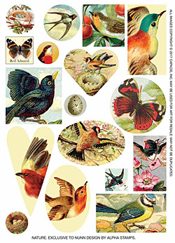 Nunn Design Nature Transfer Sheet
