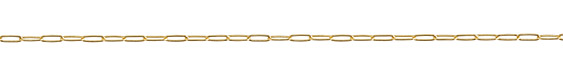 Gold (plated) Medium Paperclip Chain