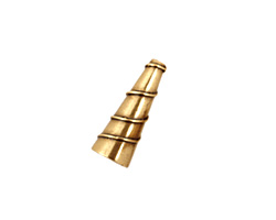 Antique Brass (plated) Small Spiral Cone 17x6mm