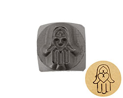Hamsa Hand Metal Stamp 6mm