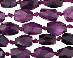 Amethyst Faceted Nugget Graduated 8-12x8-9mm