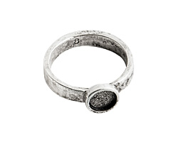 Nunn Design Antique Silver (plated) Hammered Itsy Circle Ring Size 8