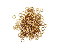 Artistic Wire Non-Tarnish Brass Chain Maille Jump Ring 2.38mm, 20 gauge