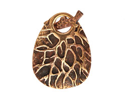 Saki Bronze Tree Branch Toggle Clasp 40x30mm, 25mm bar