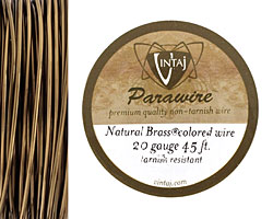Vintaj Natural Brass Parawire 20 gauge, 45 feet