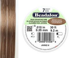 "Beadalon Bronze .010"" 7 Strand Wire 30ft."