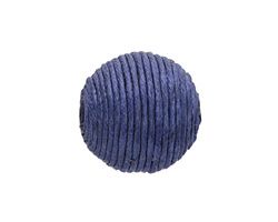 Marine Blue Thread Wrapped Bead 18mm