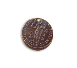 Vintaj Natural Brass Ancient Traveler Coin 19.5mm
