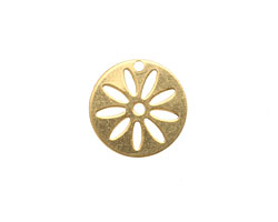 Brass Round Flower Stencil 16mm