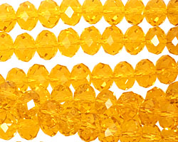 Marmalade Crystal Faceted Rondelle 8mm