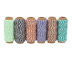 Garden Party Bakers Twine 2 ply, 65 ft x 6 colors