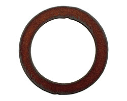 The Lipstick Ranch Rusted Iron Large Circle Pendant 50mm