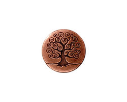 TierraCast Antique Copper (plated) Tree of Life Button 15mm