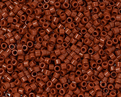 TOHO Aiko Opaque Burnt Orange Precision Cylinder 11/0 Seed Bead