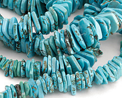 Turquoise Magnesite Graduated Side Drilled Chips 1-7x7-26mm
