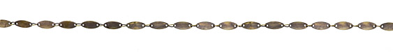 Antique Brass (plated) Flat Elongated Oval Link Chain