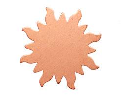 Copper Dancing Sun Blank 32mm