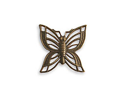 Vintaj Natural Brass Filigree Butterfly Connector 16mm