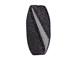 Blue Goldstone Twisted Pillow 30x15mm
