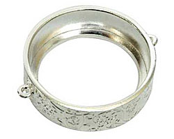 Nunn Design Sterling Silver (plated) Grande Circle Open Bezel Link42x35mm