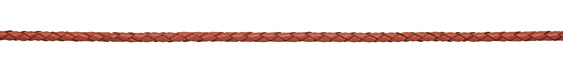 Dull Red Braided Leather Bolo Cord 3mm
