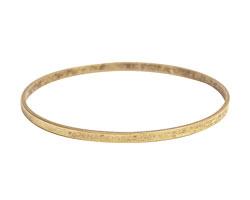 Nunn Design Antique Gold (plated) Large Flat Bangle Bracelet 70mm
