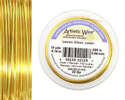 Artistic Wire Silver Plated Lemon 22 gauge, 10 yards