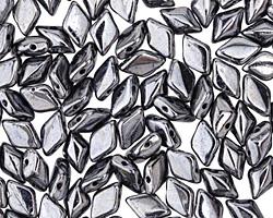 Hematite GemDuo 8x5mm Seed Bead
