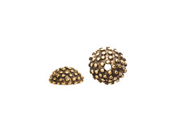 Nunn Design Antique Gold (plated) Urchin Bead Cap 5x12mm