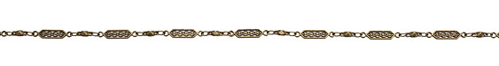 Antique Brass (plated) Ornate Chain
