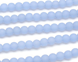 Opaque Sky Blue Recycled Glass Round 6mm