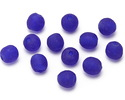 African Recycled Glass Cobalt Tumbled Round 8-10mm