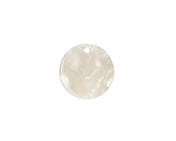 Zola Elements Pearl Acetate Coin Charm 14mm