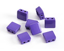 Purple Enamel 2-Hole Tile Square Bead 8mm