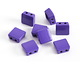 Purple Enamel 2-Hole Tile Square Bead 8mm