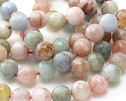 Multi Beryl Faceted Round 10mm